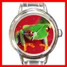 Red Eye Tree Frog Round Italian Charm Wrist Watch 243