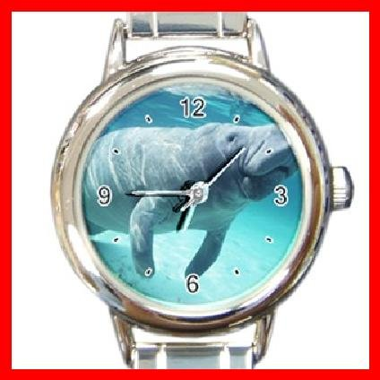 Manatee COOL Sea Round Italian Charm Wrist Watch 247