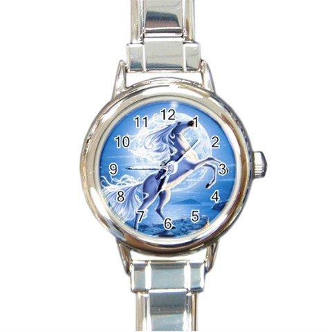 Unicorn Moon Myth Round Italian Charm Wrist Watch 251