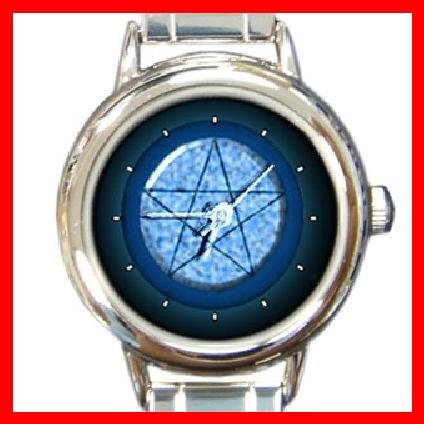 Blue Pentacle Round Italian Charm Wrist Watch 253