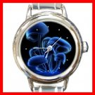 Magic Blue Mushroom Round Italian Charm Wrist Watch 256