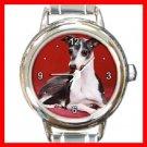 ITALIAN GREYHOUND Dog Puppy Animals Round Italian Charm Wrist Watch 265