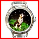 BOSTON TERRIER Dog Pet Animal Round Italian Charm Wrist Watch 271