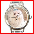 MALTESE Dog Pet Animal Round Italian Charm Wrist Watch 276