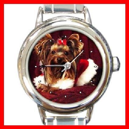 Yorkie Terrier Queen Animal Round Italian Charm Wrist Watch 277