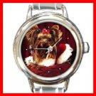 Yorkie Terrier Queen Animal Round Italian Charm Wrist Watch 277