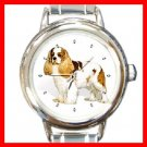 CAVALIER KING CHARLES SPANIEL DOG Pet Animal Round Italian Charm Wrist Watch 281