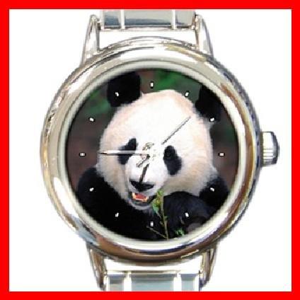 Panda Smile Animal Round Italian Charm Wrist Watch 284