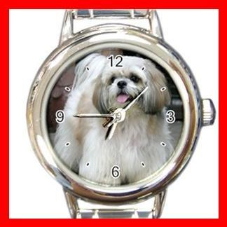 Shih Tzu DOG Pet Animal Round Italian Charm Wrist Watch 292
