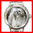 Shih Tzu DOG Pet Animal Round Italian Charm Wrist Watch 292