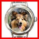 Shetland Sheepdog DOG Pet Animal Round Italian Charm Wrist Watch 296