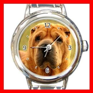 Sharpei DOG Pet Animal Round Italian Charm Wrist Watch 298