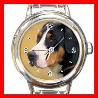 Sennen Hound DOG Pet Animal Round Italian Charm Wrist Watch 299