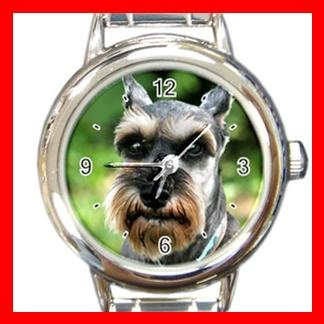 Schnauzer DOG Pet Animal Round Italian Charm Wrist Watch 300