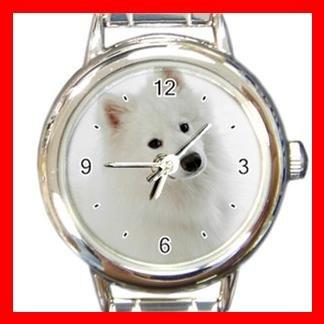 Samoyed DOG Pet Animal Round Italian Charm Wrist Watch 302