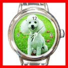 Poodle DOG Pet Animal Round Italian Charm Wrist Watch 311