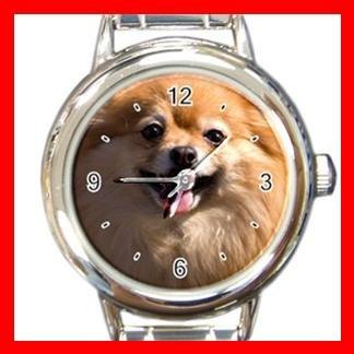 Pomeranian DOG Pet Animal Round Italian Charm Wrist Watch 314