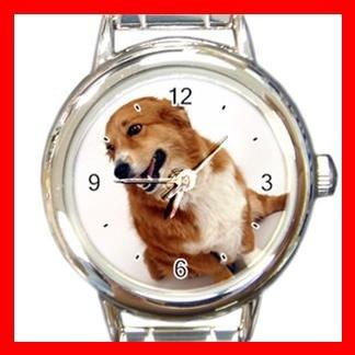 Pembroke DOG Pet Animal Round Italian Charm Wrist Watch 316