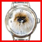 Pekingese DOG Pet Animal Round Italian Charm Wrist Watch 317