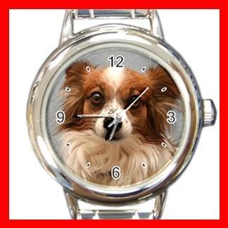 Papillon DOG Pet Animal Round Italian Charm Wrist Watch 318
