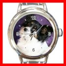 Papillon DOG Pet Animal Round Italian Charm Wrist Watch 319