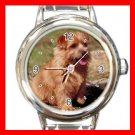 Norfolk Terrier DOG Pet Animal Round Italian Charm Wrist Watch 321