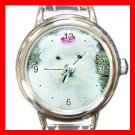 Maltese DOG Pet Animal Round Italian Charm Wrist Watch 323