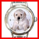 Labrador DOG Pet Animal Round Italian Charm Wrist Watch 327