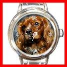 King Charles Spaniel DOG Pet Animal Round Italian Charm Wrist Watch 330
