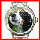 King Charles Spaniel DOG Pet Animal Round Italian Charm Wrist Watch 331