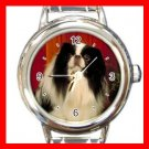 Japchin DOG Pet Animal Round Italian Charm Wrist Watch 333