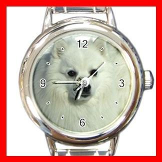 Japanese Spitz DOG Pet Animal Round Italian Charm Wrist Watch 334