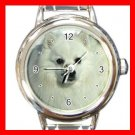 Japanese Spitz DOG Pet Animal Round Italian Charm Wrist Watch 334