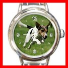 Jack Russell DOG Pet Animal Round Italian Charm Wrist Watch 337
