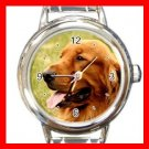 Irish Setter DOG Pet Animal Round Italian Charm Wrist Watch 339