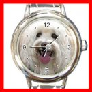 Havanese DOG Pet Animal Round Italian Charm Wrist Watch 342