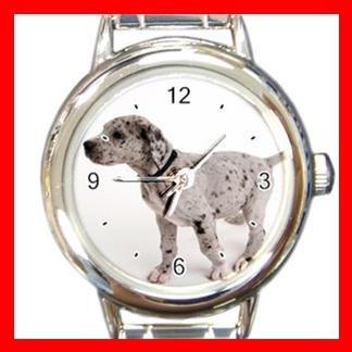 Great Dane DOG Pet Animal Round Italian Charm Wrist Watch 343