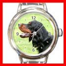 Gordon Setter DOG Pet Animal Round Italian Charm Wrist Watch 344