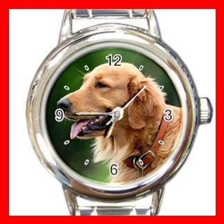 Golden Retriever DOG Pet Animal Round Italian Charm Wrist Watch 345