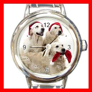 Golden Retriever DOG Pet Animal Round Italian Charm Wrist Watch 347