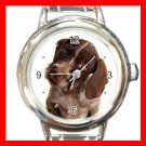 German Wirehaired Pointer DOG Pet Round Italian Charm Wrist Watch 349