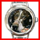 German Shorthair Pointer DOG Pet Round Italian Charm Wrist Watch 350