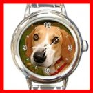 Foxhound DOG Pet Round Italian Charm Wrist Watch 354