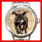Fila Brasileiro Dog Animal Round Italian Charm Wrist Watch 356