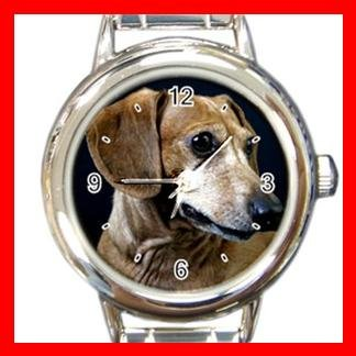 Dachshund Dog Pet Animal Round Italian Charm Wrist Watch 359