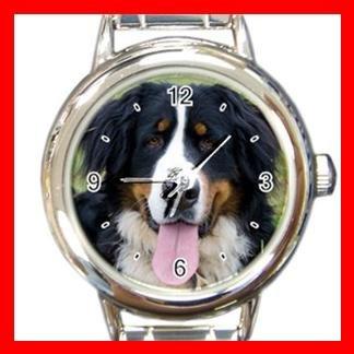 Bernese Mountain Dog Pet Animal Round Italian Charm Wrist Watch 367