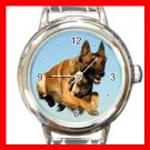 Bernese Mountain Dog Pet Animal Round Italian Charm Wrist Watch 368