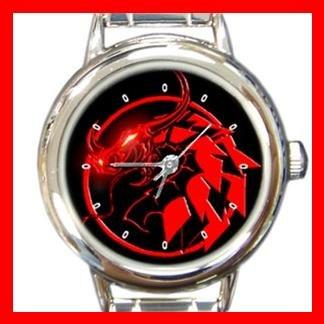 Red Dragon Myth Round Italian Charm Wrist Watch 378