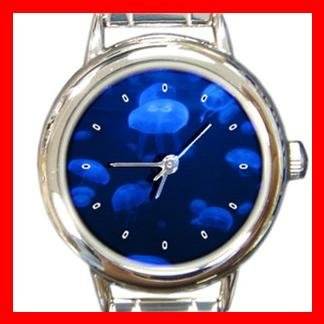 Jelly Fish Sea  Round Italian Charm Wrist Watch 382
