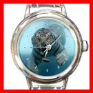 Tiger Under Water Animal Round Italian Charm Wrist Watch 384